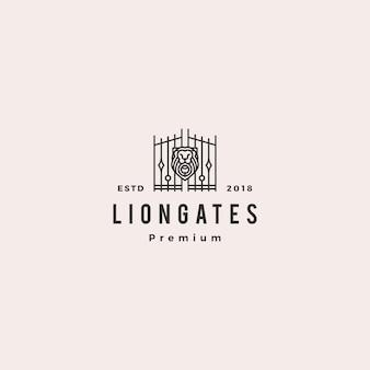 Logotipo de liongates de portão de leão