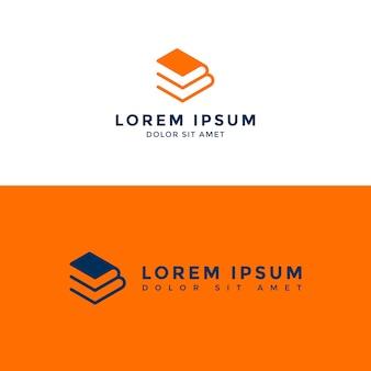 Logotipo de livro empilhado (também tem letra e + b)