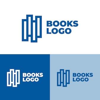 Logotipo de livros em cores diferentes