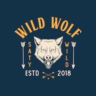 Logotipo de lobo selvagem