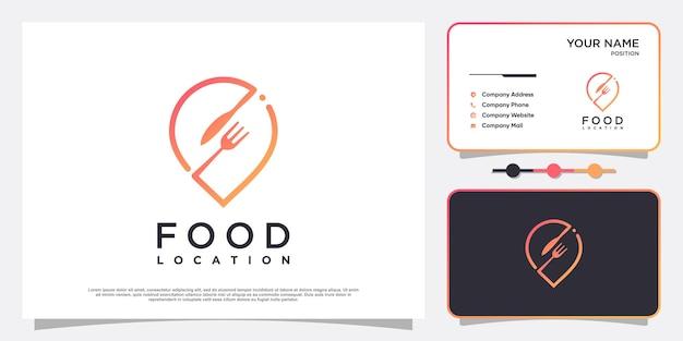 Logotipo de localização de alimentos com estilo de elemento simples e criativo premium vector parte 4