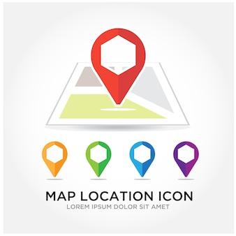 Logotipo de localização do mapa
