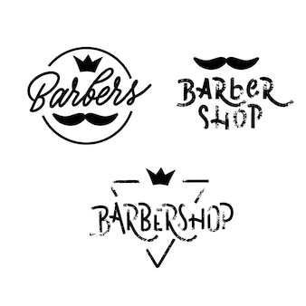 Logotipo de loja de barbeiros