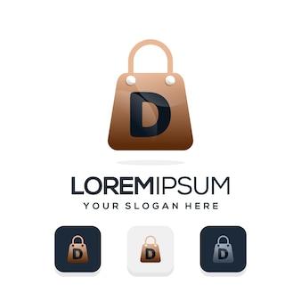 Logotipo de loja moderna com a letra d modelo de logotipo