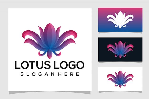 Logotipo de lótus abstrata