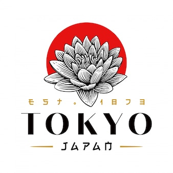 Logotipo de lótus do japão