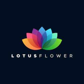 Logotipo de lótus pronto para uso