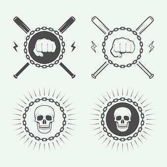 Logotipo de luta ou artes marciais