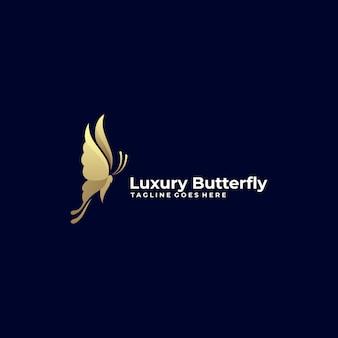 Logotipo de luxo borboleta