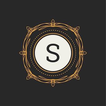 Logotipo de luxo com letra