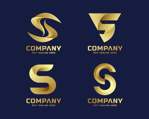 Logotipo de luxo criativo letra s para empresa