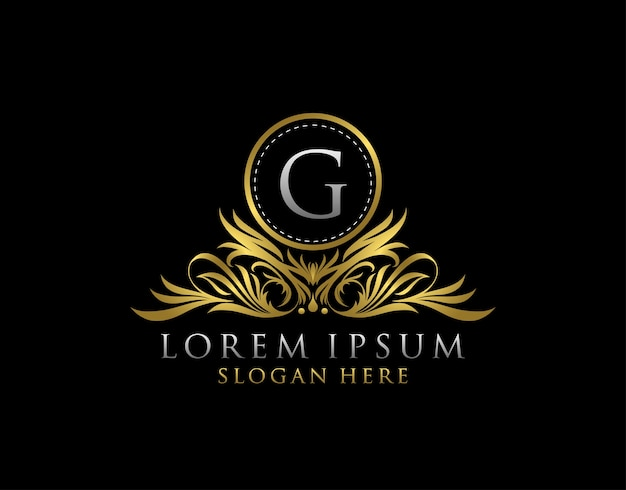Logotipo de luxo da letra g. modelo de design do monograma.