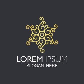 Logotipo de luxo da mandala de paisley.