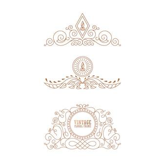 Logotipo de luxo da marca premium vintage
