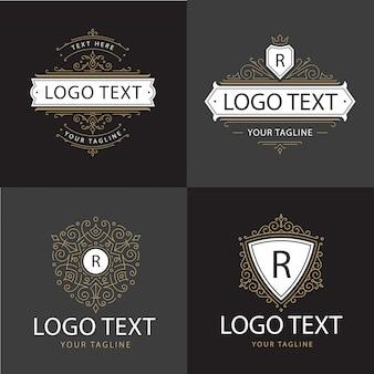 Logotipo de luxo de ornamento
