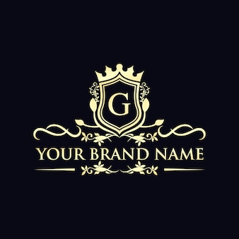 Logotipo de luxo de uma marca