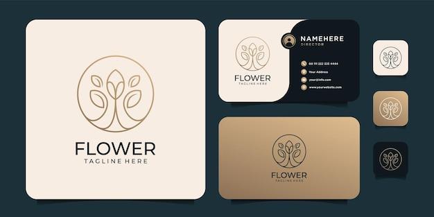 Logotipo de luxo dourado com cartão de visita