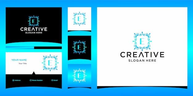 Logotipo de luxo e com modelo de cartão de visita