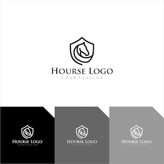 Logotipo de luxo hourse