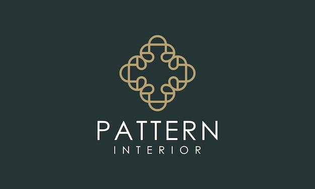 Logotipo de luxo interior