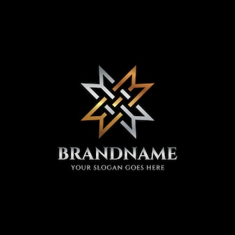 Logotipo de luxo letra m