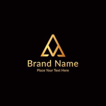 Logotipo de luxo moderno das letras a e v