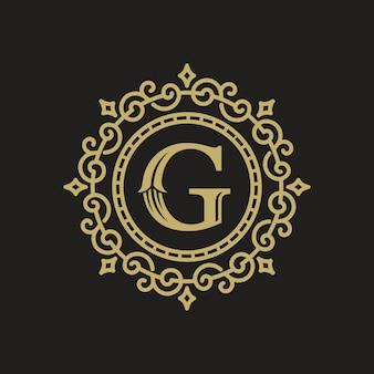 Logotipo de luxo ouro vintage