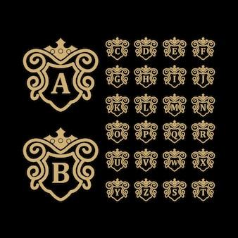 Logotipo de luxo ouro