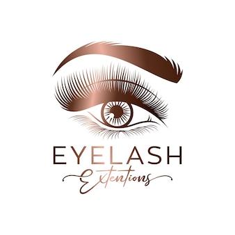 Logotipo de luxo para cílios