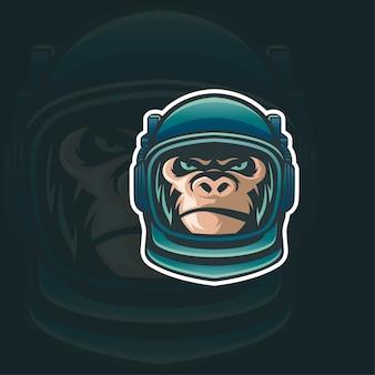 Logotipo de macaco astronot