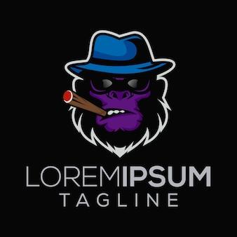 Logotipo de macaco chefe da máfia