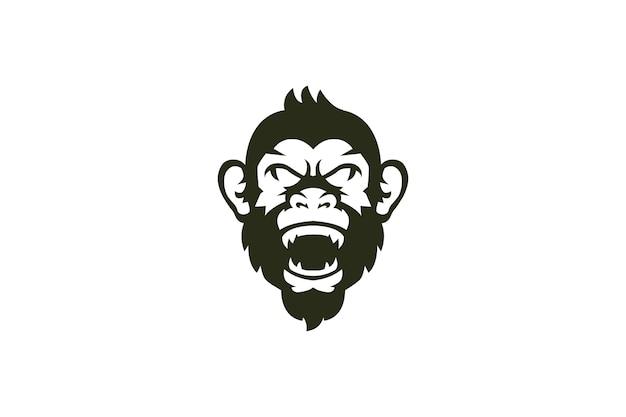 Logotipo de macaco de cabeça
