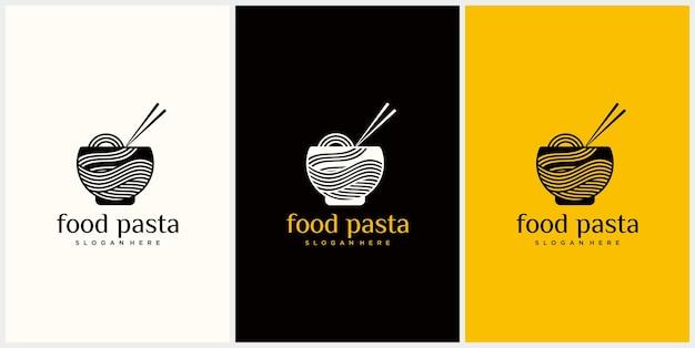 Logotipo de macarrão para ramen business fast food restaurante comida coreana comida japonesa logotipo de ramen japonês
