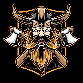 Logotipo de machado viking