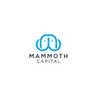 Logotipo de mamute fofo pronto para usar