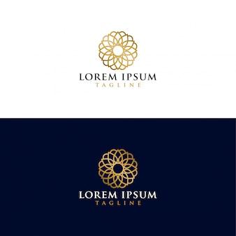 Logotipo de mandala dourada