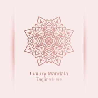 Logotipo de mandala ornamental de luxo em estilo arabesco