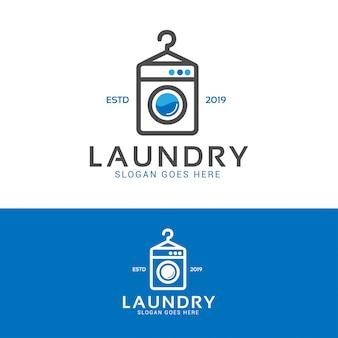 Logotipo de máquina de lavar roupa