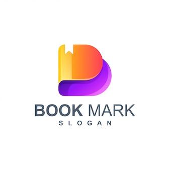 Logotipo de marca de livro