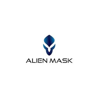 Logotipo de máscara alienígena