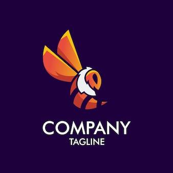 Logotipo de mascote de abelha