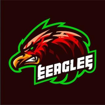 Logotipo de mascote de águia furiosa