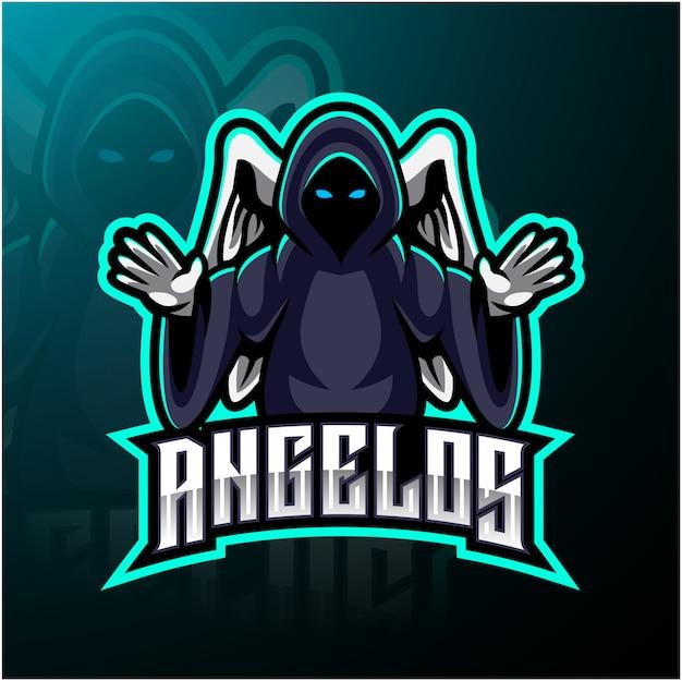 Logotipo de mascote de anjo esport