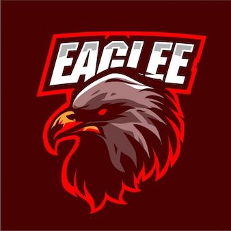 Logotipo de mascote de cabeça de águia