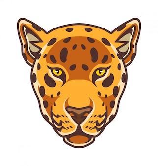 Logotipo de mascote de cabeça de chita