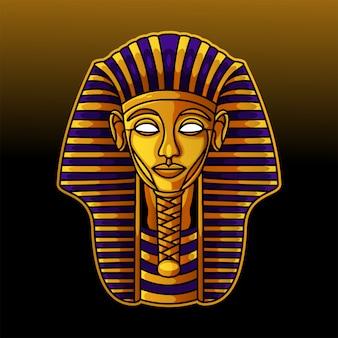 Logotipo de mascote de cabeça de faraó