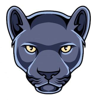 Logotipo de mascote de cabeça de pantera negra