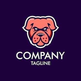Logotipo de mascote de cachorro