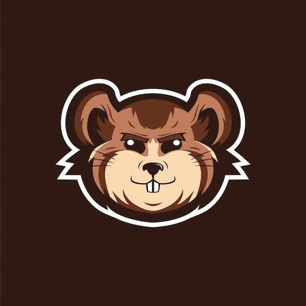 Logotipo de mascote de castor