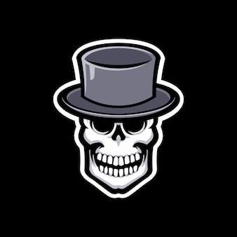 Logotipo de mascote de caveira isolado